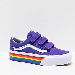 Vans Old Skool Rainbow Platform Shoes